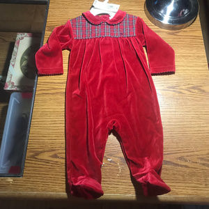 Ralph Lauren red footed sleeper 6-9 months NWT